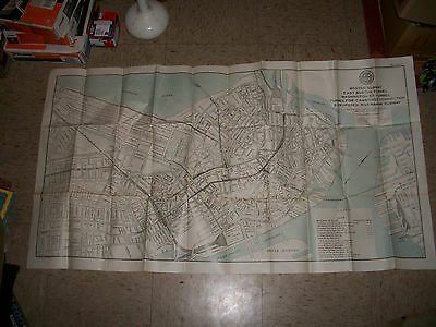 Early 1911 Boston Transit Commission Tunnel Proposal Boston Subway map downtown