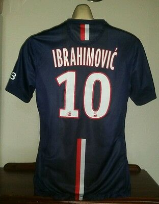 PARIS SAINT GERMAIN Football Shirt Mailot IBRAHIMOVIC 10 PSG Original 2014/15