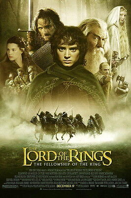 Lord of the Rings Fellowship - A4 Glossy Poster -TV Film Movie Free Shipping #18