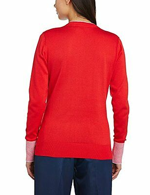 Rosso (rot - True Red) (TG. XS) Ashworths, Pullover Donna in cotone Pima, Rosso