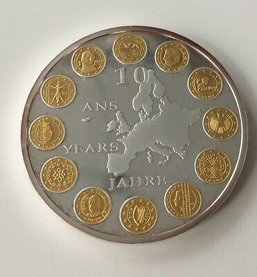 Commemorative Coin 10 Ans Years Jahre Euro. 928