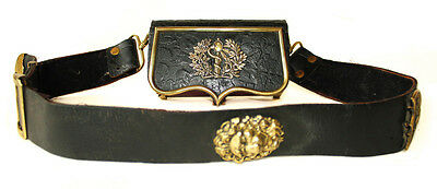 Large French Military Dress Pouch And Belt : Medical Corps - Circa 1840