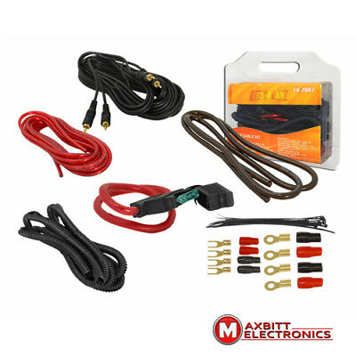 Professional Car Amplifier 4AWG Wiring RCA Audio 10GA Fuse Cable Set