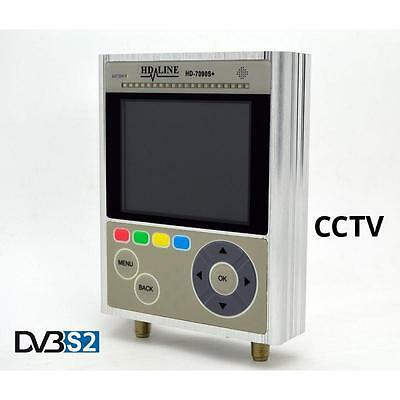 Pointeur satellite HD DVB-S2 Combo Testeur Caméras CCTV + Valise transport