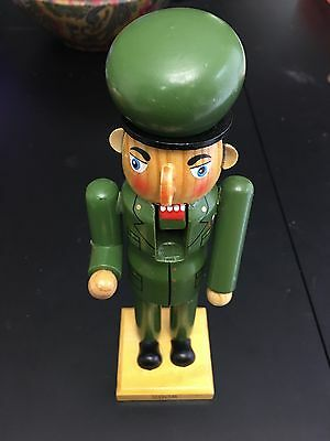 """8"""" Wooden Limited Edition 2008 Collectible Military Nutcracker Soldier (Reduced)"""