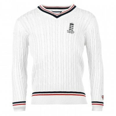 England Cricket Classic Cable Knit Cricket Jumper
