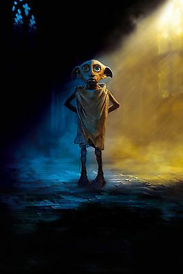 Harry Potter Dobby - A4 Glossy Poster -TV Film Movie Free Shipping #32