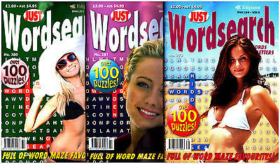 Wordsearch Books - 3 Book set - 315 Puzzles - New (Set 85)