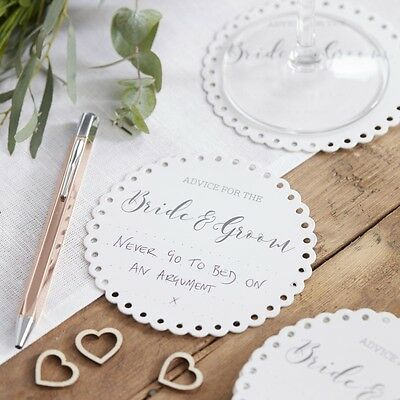 Wedding Advice Bride and Groom Coasters 20 pack Wedding Stationary Supplies