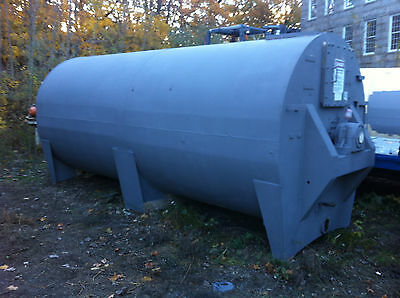 4000 Gallon 40,000 lb Steel Jacketed Sanitary Agitated Horizontal Tank