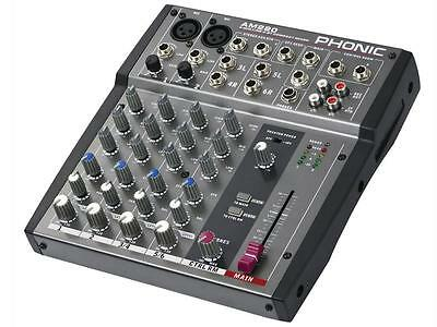 PHONIC AM220 MIXER AUDIO professionale 6 CANALI per pub locali karaoke live NEW