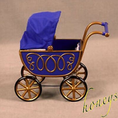 Authentic American Girl ANGELINA BALLERINA'S PRAM Stroller Carriage Blue Gold