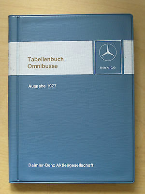 Mercedes Reference Book Omnibus - O 303 - O 305 - O 307 1977