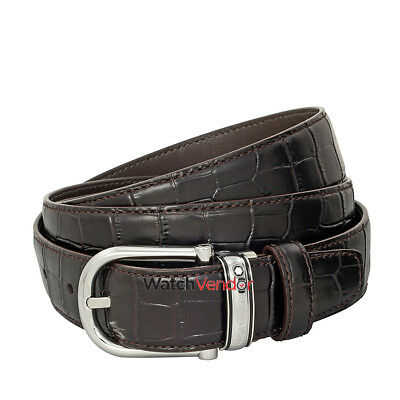 Montblanc Classic Line Brown Chrome-Tanned Leather Belt 114391