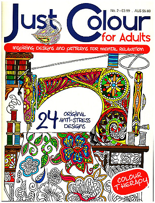 Just Colour For Adults issue 2 - Art Therapy - Adult Colouring Book -  NEW