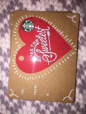 Valentine Red Heart. You're The Sweetest 2017 Starbucks Card UK Coffee Card 6133