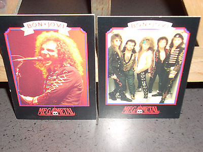 14 Bon-Jovi Trading Cards. Numbered 1 To 14. View Pictures. Very Good Condition