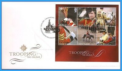 2005 Trooping the Colour M/S stamps Buckingham Palace FDC rc127