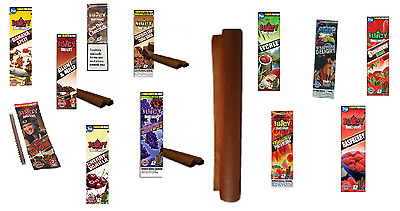 Juicy Blunts Tube King Size for cones or tubes Rolling papers - 12 Pure FLAVORS