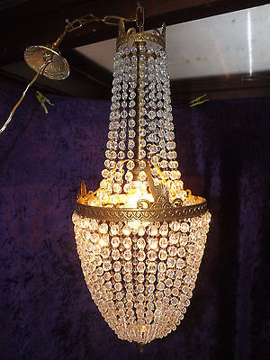 Vintage Classic French Empire Style Crystal Chandelier