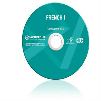 SOS French 1 Homeschool Curriculum CD Grade 9 10 11 12 Switched On Schoolhouse