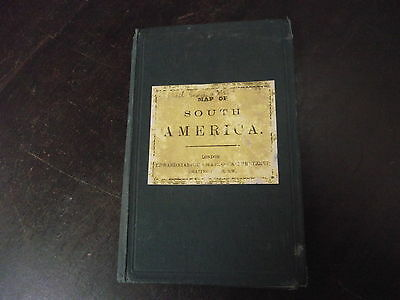 old edward stanford map book of south america