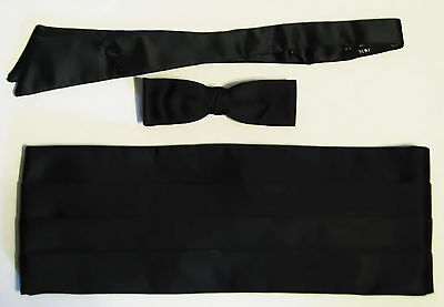 Cummerbund & 2 Bow Ties + Cuff Links-Studs