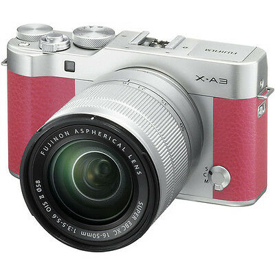 Fujifilm X-A3 Mirrorless Digital Camera - Pink with 16-50mm Lens