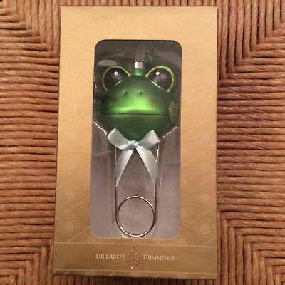 """""""Baby's First Christmas"""" Christmas Ornament-- Diaper Pin w Frog"""