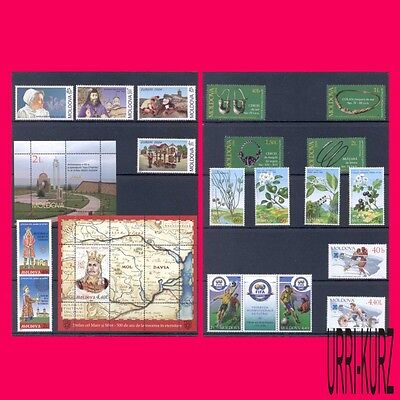 MOLDOVA 2004 Year Set 18 stamps & 2 souvenir sheets Mi # 485-504, Bl.31-32 MNH