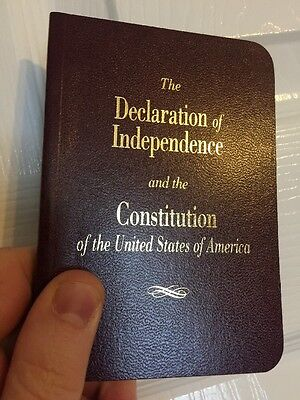 LARGE PRINT Pocket Size United States Declaration Of Independence & Constitution