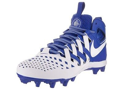 Nike Huarache V Lax Mid Lacrosse Football Cleats Mens Size 12 Blue White