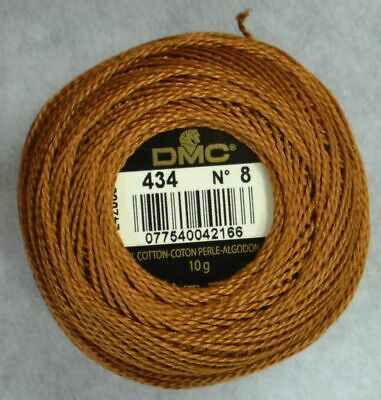 DMC Perle 8 Cotton 10g Ball #434 LIGHT BROWN, 80m