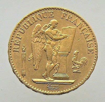 1878-A France French Angel 20 Francs Gold Coin