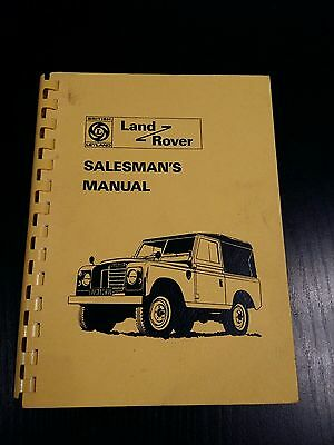 RARE Land Rover Series 3 Salesman's Manual Brochure Pub no: 834 1972 100+ pages