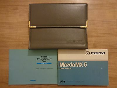 Mazda MX5 Owners Handbook/Manual and Pack 98-02