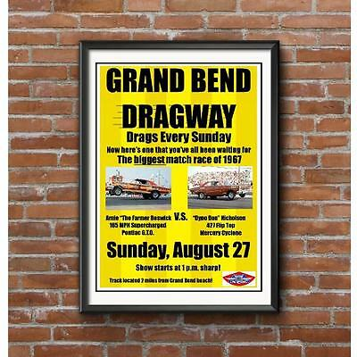 Grand Bend Dragway Funny Car Match 1967 Race Poster