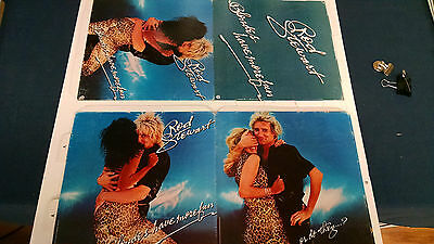 VTG 1978 Rod Stewart Blondes Have More Fun  Record Store  Promo Sign Mobile