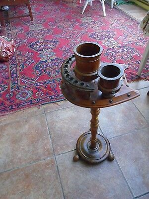 Vintage gentleman's horseshoe shaped smokers table, collectible and unusual
