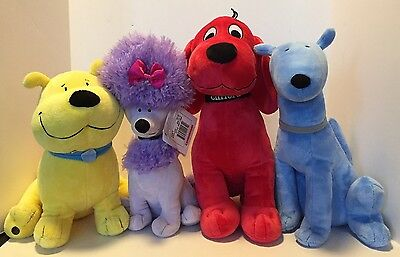 Kohls Cares Clifford the Big Red Dog Cleo Mac & T-Bone Plush Set of 4