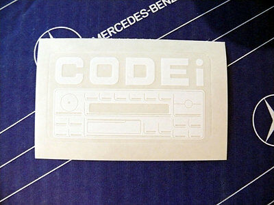 "Genuine Mercedes sticker ""Radio Code"" for W124 W126 W201 W202 and W140"