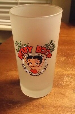 Betty Boop MGM Grand Las Vegas Frosted Glass- Girls Wanna Have Funds