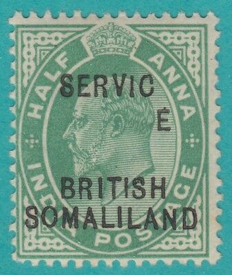 SOMALILAND PROTECTORATE O6  NO FAULTS  MINT NEVER HINGED OG**  Dropped E variety