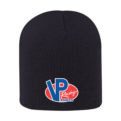 ORIGINAL VP RACING FUELS Black Beanie Hat VP logo Racing Apparel VP030