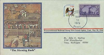 1979 - Norman Rockwell - Commemorative Society - The Morning Rush