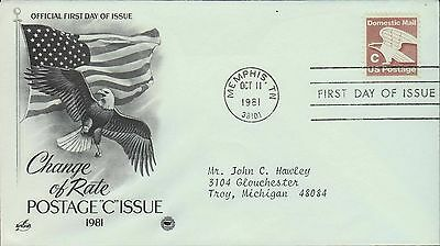 1981 - Fdc - Change Of Rate - Postage - C - Issue