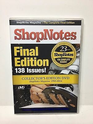 Shop Notes Final Edition 138 Issues Collector's Edition DVD ShopNotes 1992-2014