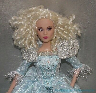 Retired 2015 Disney Store Cinderella Fairy Godmother Jointed Fashion Doll w/Gown