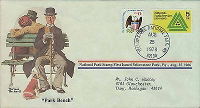 1978 - Norman Rockwell - Commemorative Society - Park Bench