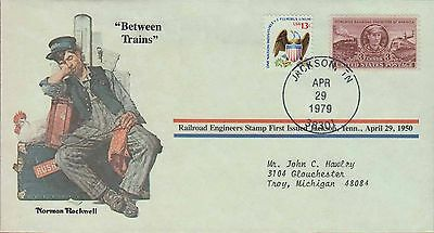 1979 - Norman Rockwell - Commemorative Society - Between Trains